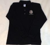 Golf Shirt- Long Sleeve- BLK